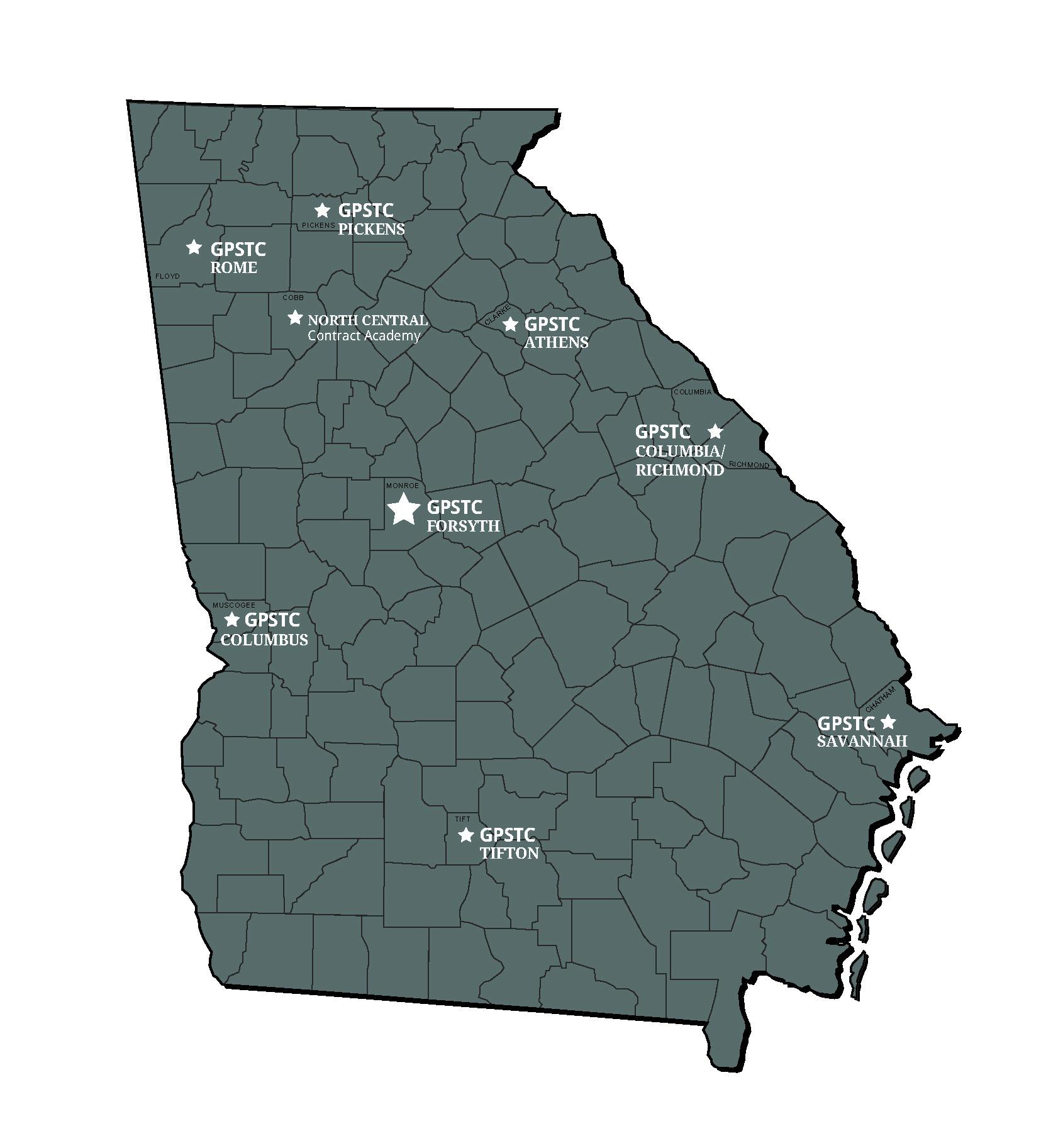 Forsyth Georgia Map.Gpstc Regional Academies Gpstc